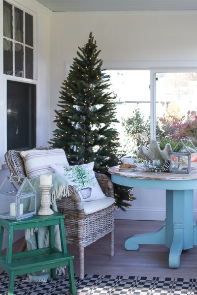 Coastal Christmas in Our Sunroom I Finding Silver Pennies