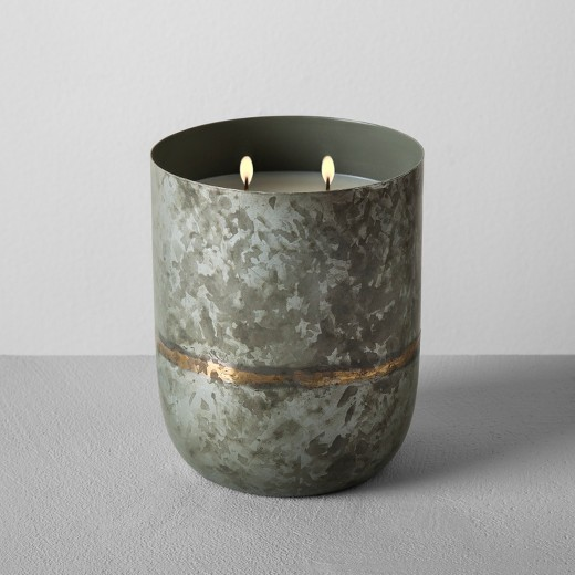 Galvanized Candle from Target