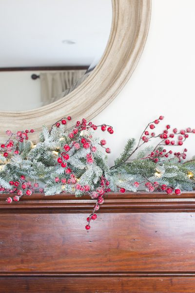 Frosted Berry Garland Mantel I Finding Silver Pennies