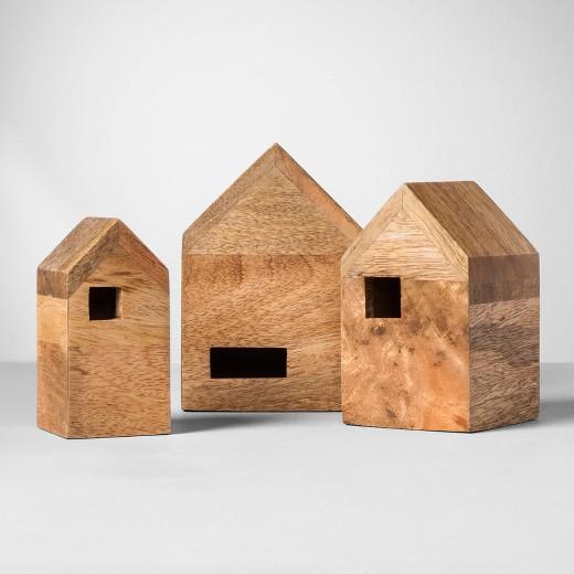 Wood Nesting Houses - Modern Day Gingerbread Houses
