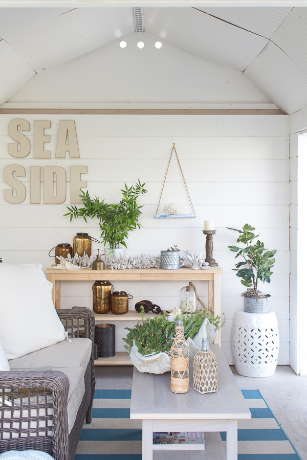Faux plants in the she shed from Ikea #ikea #affordableinteriors #homedecor