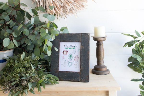 Eucalyptus and A Distressed Frame with a Winter Free Printable I Finding Silver Pennies