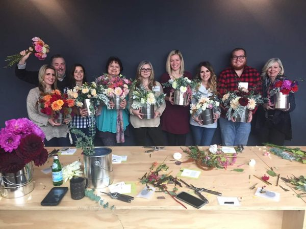 Wagner InSPRAYtional Event - the team with flowers I Finding Silver Pennies