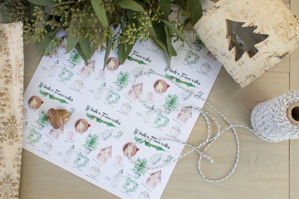 Wrapping Gifts and a Winter Free Printable I Finding Silver Pennies