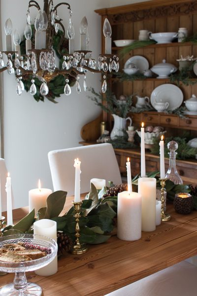 Christmas Greenery and Crystal Chandelier I Finding Silver Pennies