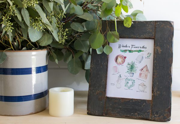 Simple Winter Decorating and a Free Printable I Finding Silver Pennies
