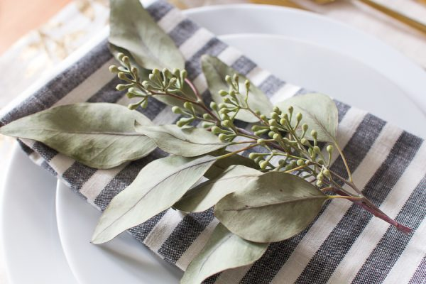 Simple table setting for Thanksgiving I Finding Silver Pennies