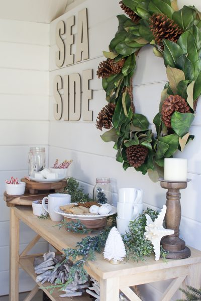 A Hot Chocolate Bar in the She Shed I Finding Silver Pennies