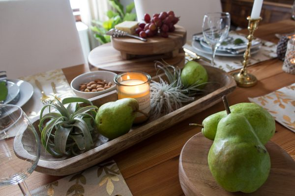 Succulents in a wooden tray make a lovely centerpiece I Finding Silver Pennies