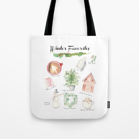Winter Favorites Tote Bag I Finding Silver Pennies