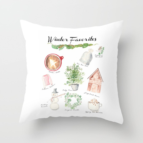 Winter Favorites Pillow I Finding Silver Pennies