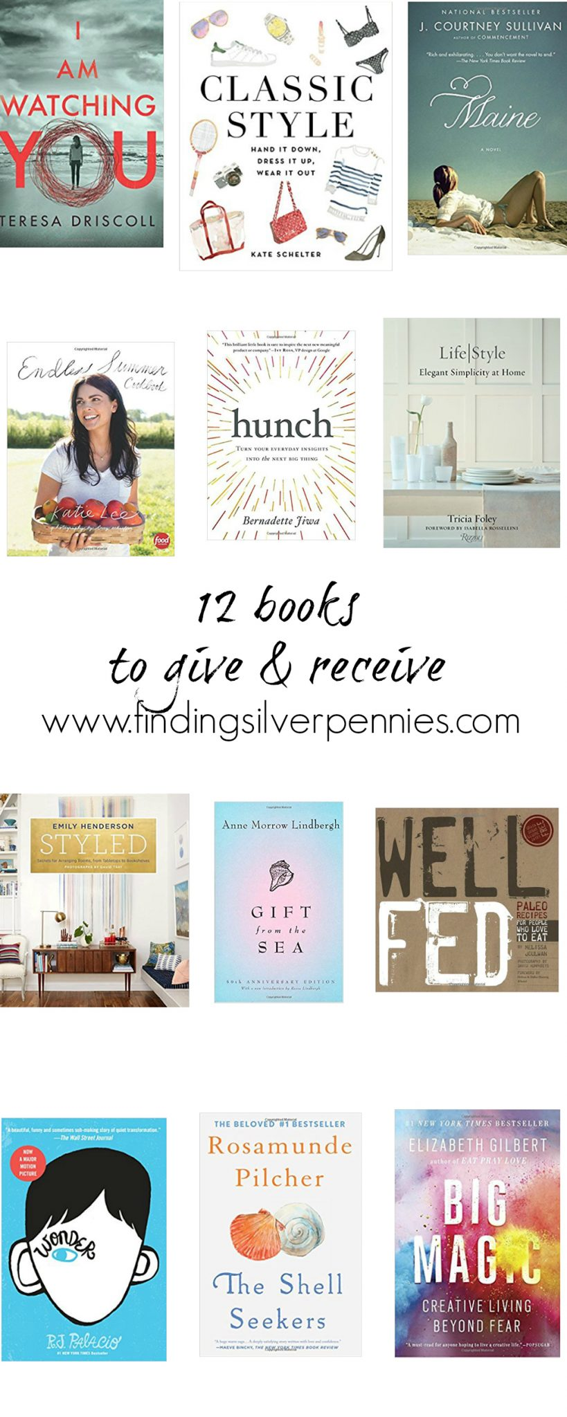 12 Books to Give and Receive I Finding Silver Pennies