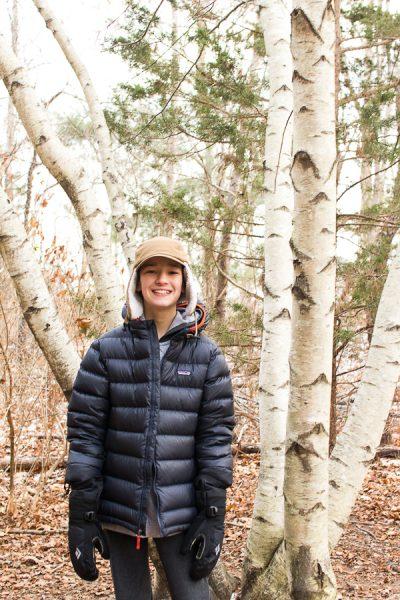 Beautiful Birch Trees on a Winter Walk - Finding Silver Pennies