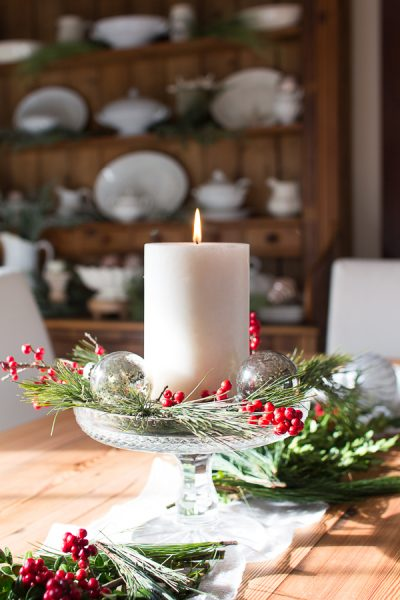 Cheerful Christmas Tablescape I Finding Silver Pennies