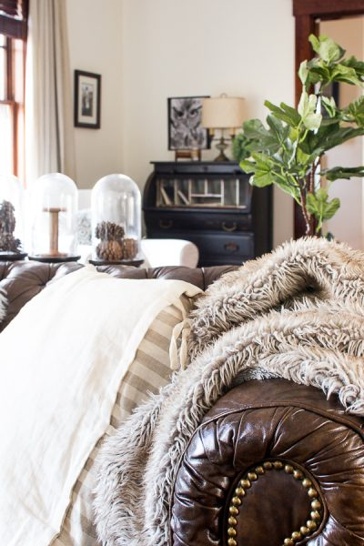 Faux Fur Throws Make Living Rooms Cozy - Finding Silver Pennies