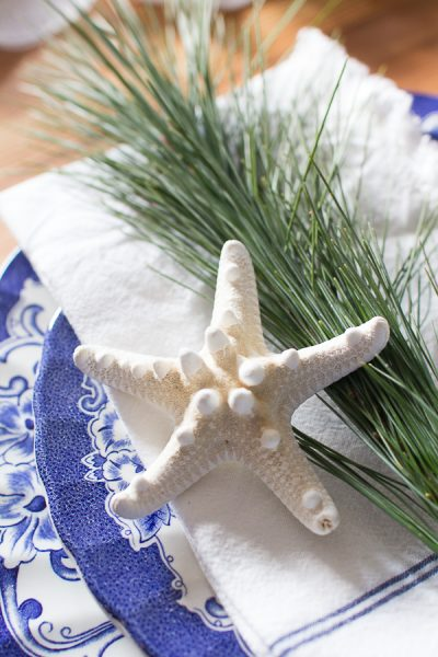 Coastal Inspired Christmas Place Setting I Finding Silver Pennies