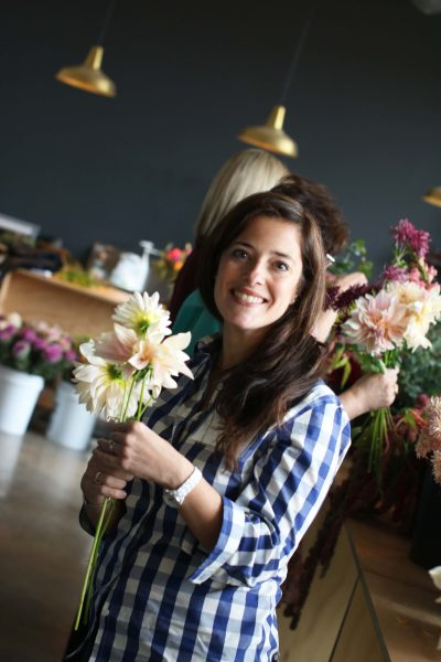 Danielle at a HandT-Tied Bouquet workshop with Floxgove Studios I Finding Silver Pennies