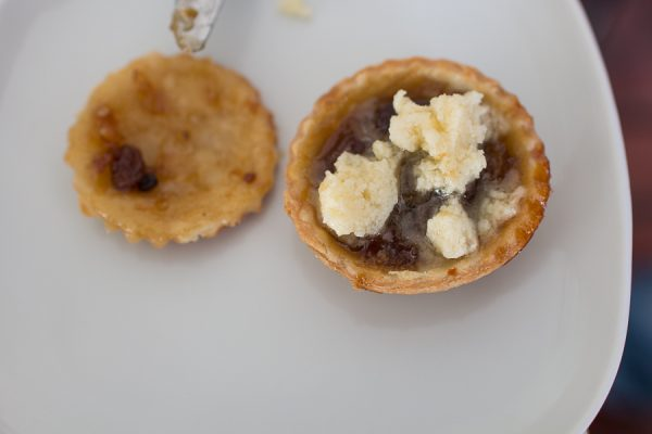 Warm Mince Pie with Brandy Butter - Finding Silver Pennies
