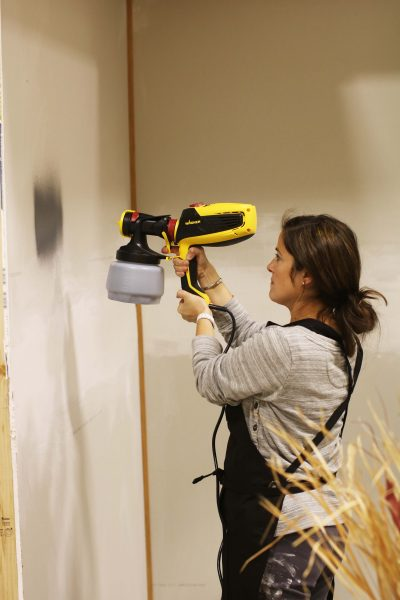Painting walls with Wagner Sprayer I Finding Silver Pennies
