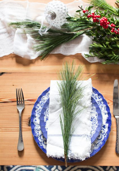 Simple Pine Table Setting I Finding Silver Pennies