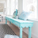 A Sea Sprayed Scalloped Bench