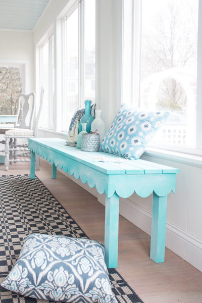 DIY Scalloped Bench - Favorite DIYs - Finding Silver Pennies