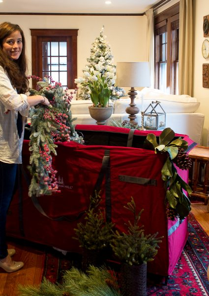 Easy ways to store a tree, greenery, wreaths and more - Finding Silver Pennies