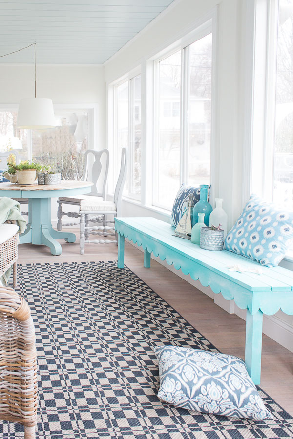 Saltwash Scalloped Bench - Finding Silver Pennies