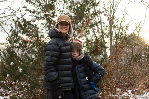 Winter Walk with the Boys in Scituate - Finding Silver Pennies