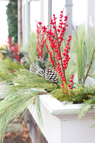 How to create pretty window boxes for the holidays I Finding Silver Pennies