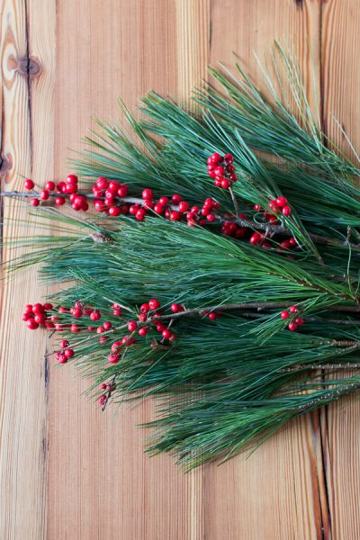 Fresh Pine and Holly - how to decorate with them I Finding Silver Pennies