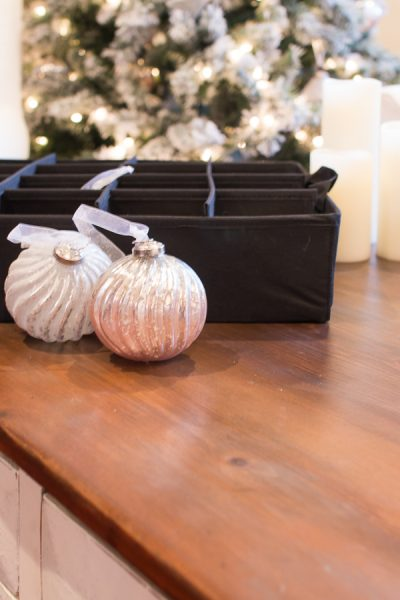 Tidy storage for Christmas Ornaments - Finding Silver Pennies