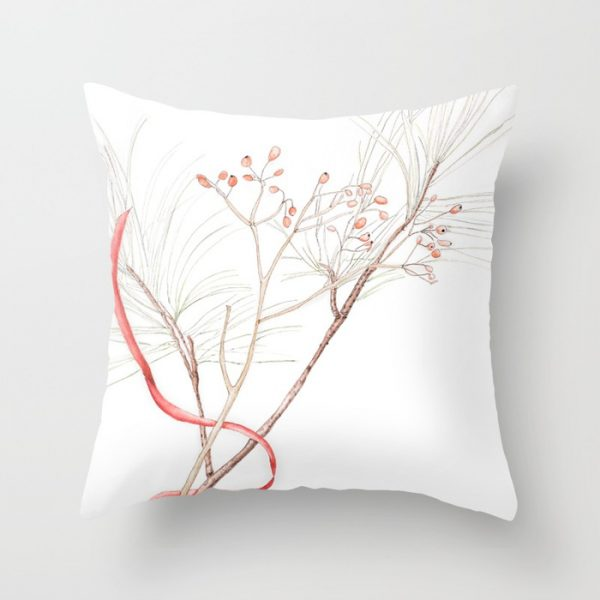 Winter Branches Watercolor Pillow - Finding Silver Pennies