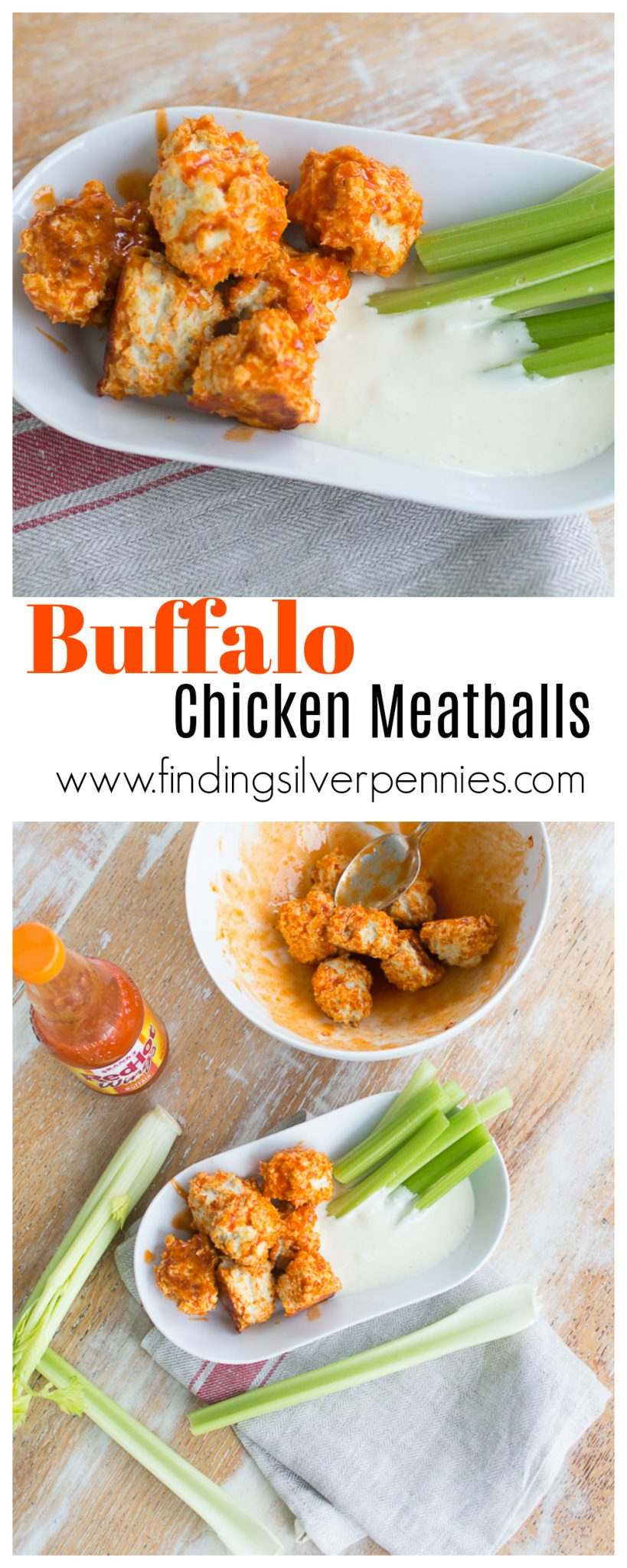 The Best Buffalo Chicken Meatballs - Finding Silver Pennies