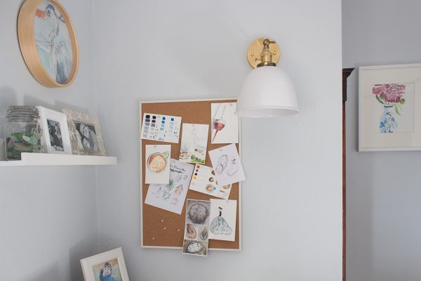 Pin board for inspiration and paintings - Finding Silver Pennies