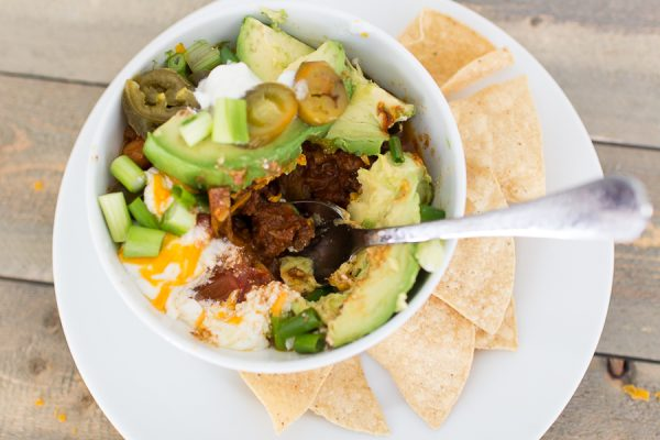 Delicious homemade Chili and Mi Nina Chips - Finding Silver Pennies