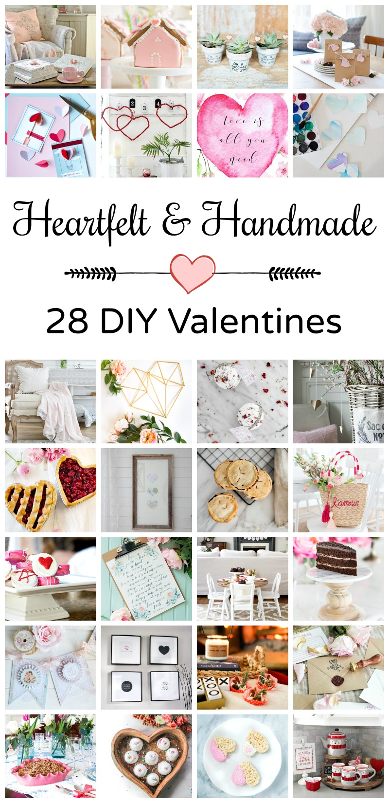 Heartfelt and Handmade - 28 DIY Valentines