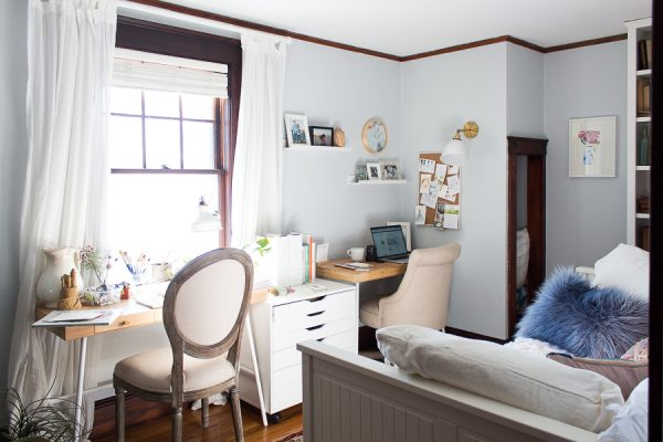 Creating a Multi Purpose Room - part guest room, part studio, part office - Finding Silver Pennies