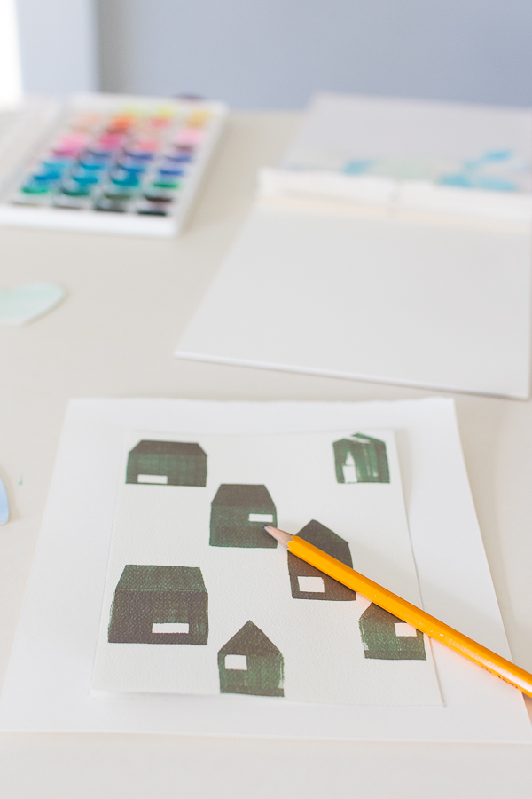 Trace paper to get the correct size for the frame - Finding Silver Pennies