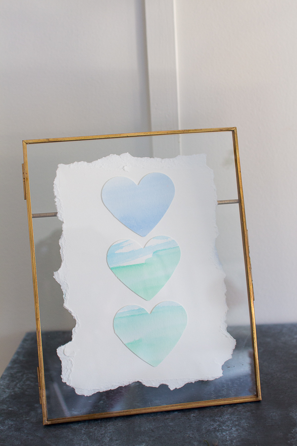 Watercolor Valentine Hearts - Finding Silver Pennies