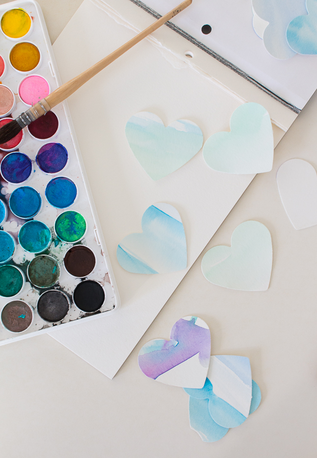 Celebrate Valentine's Day with Watercolor Hearts - they're so fun to paint - Finding Silver Pennies