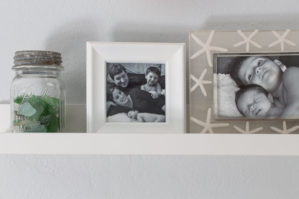 Family photos surround me as I work - Finding Silver Pennies