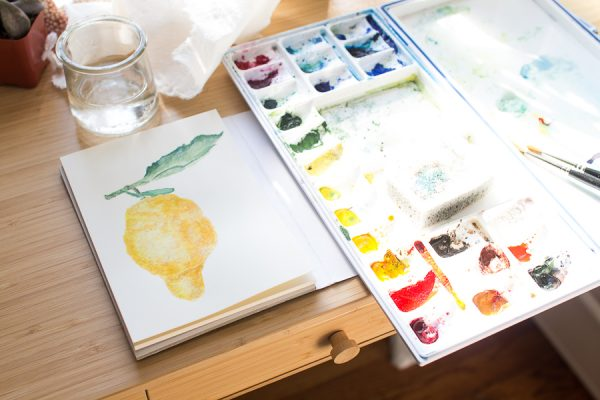 Practicing Watercolor - Finding Silver Pennies