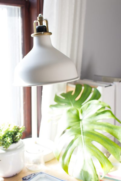 Lovely desk lighting with a modern vibe - Finding Silver Pennies