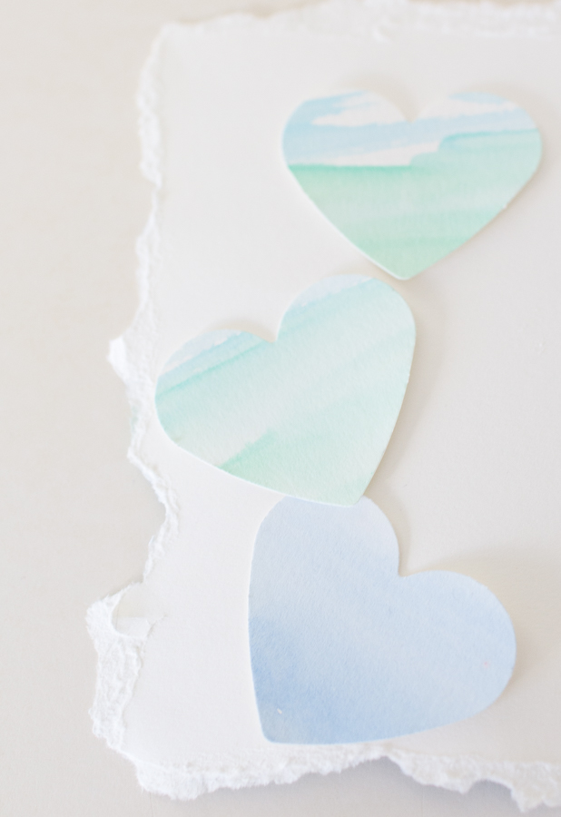 Soft and sweet, pastel watercolor hearts - Finding Silver Pennies