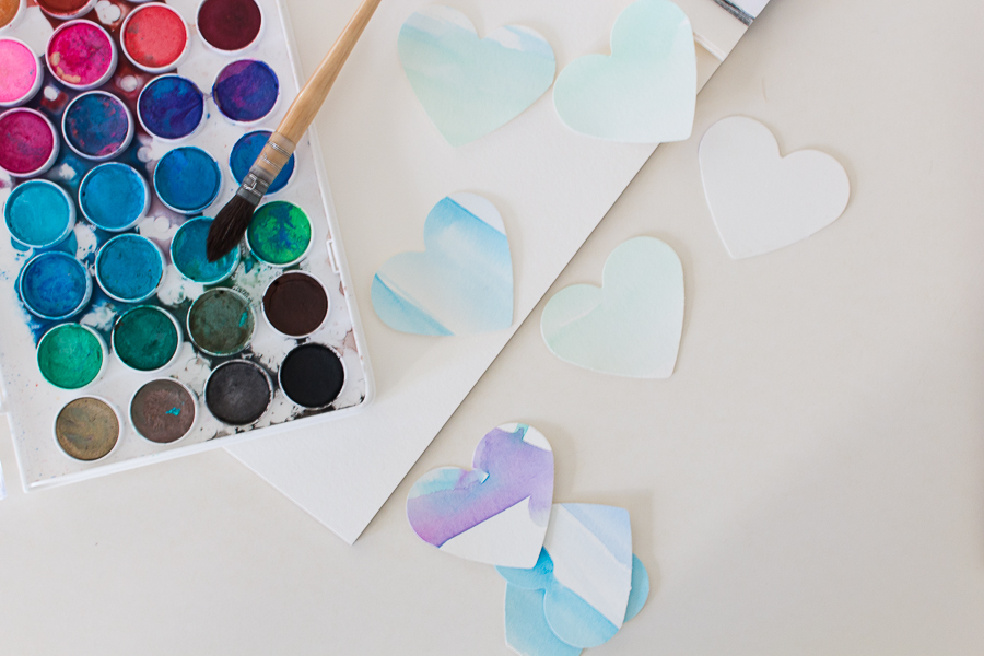 Easy to Make Watercolor Hearts - Finding Silver Pennies