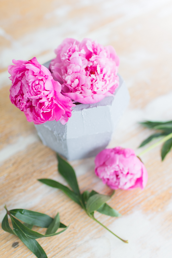 Pretty Peonies and How to Create this Faux Concrete Effect I Finding Silver Pennies