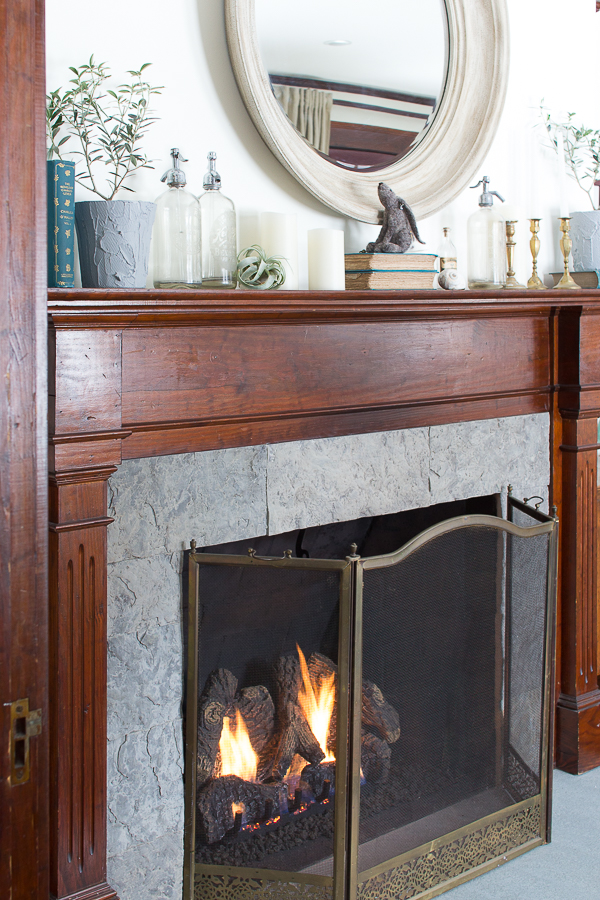 A Neutral and Antique Laden Fireplace I Finding Silver Pennies