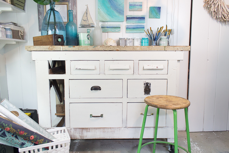 Seaside Studio and a Workbench Makeover I Finding Silver Pennies