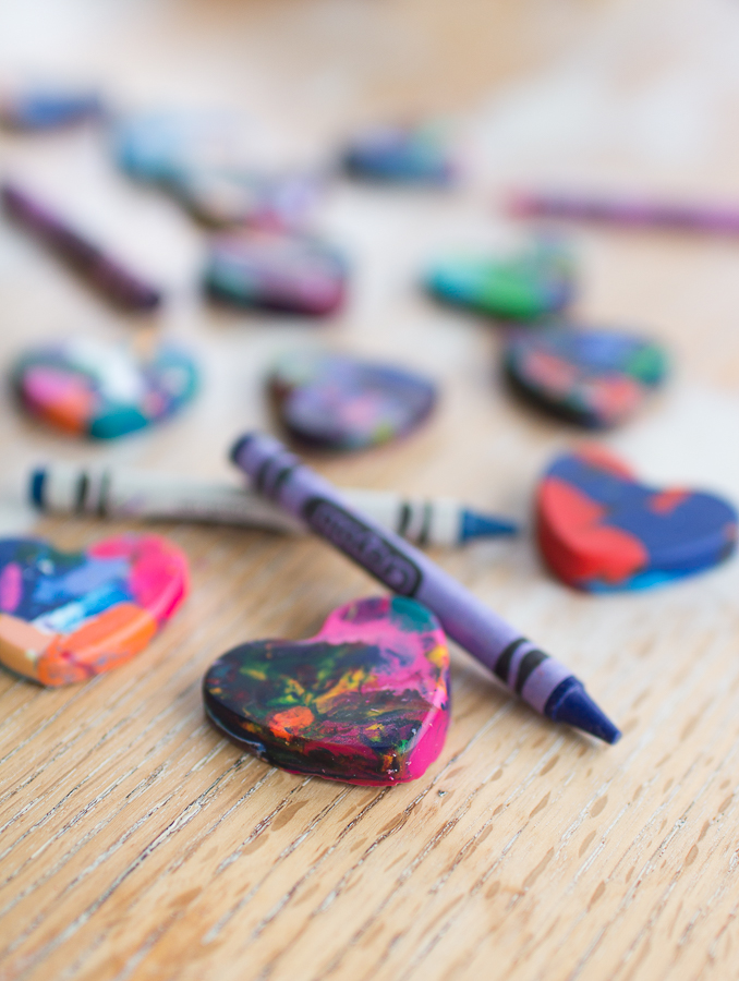 Make Your Own Heart Crayons I Finding Silver Pennies